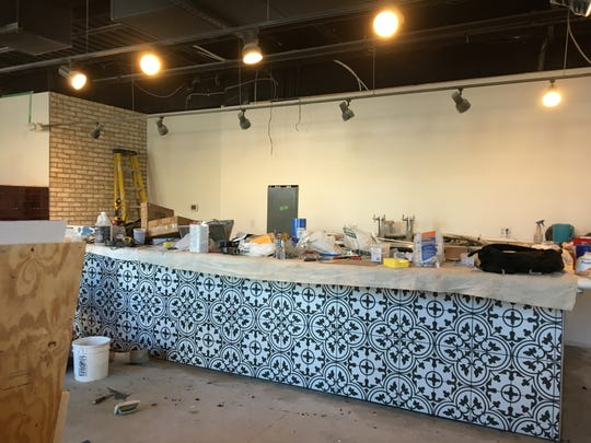 Work is being done on the Ball State Village's newest restaurant, Bevi Bistro.