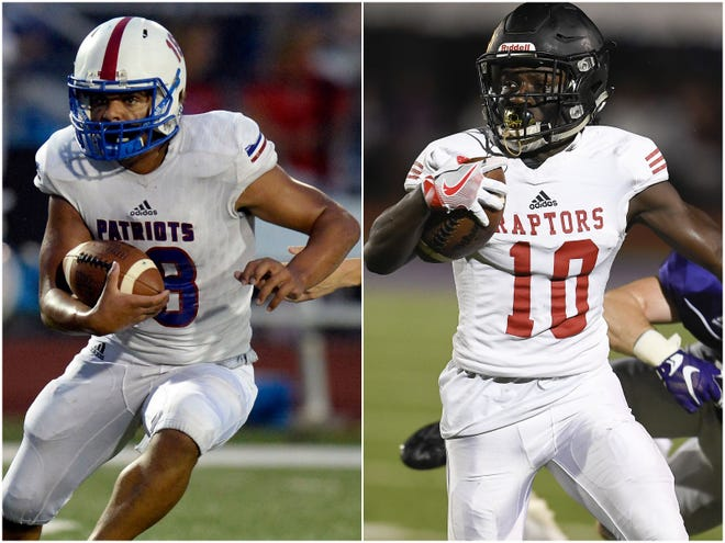 Page's Quincy Brock-Compton (left) and Ravenwood's Anthony Holmes (right)