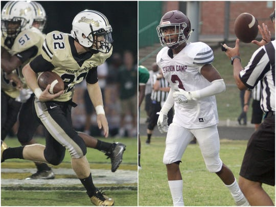 Springfield's Bryan Hayes (left) and Station Camp's Nylan Alexander (right).