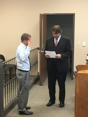 Travis Plotzer Swearing In