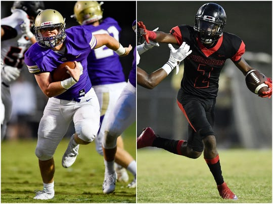 CPA's Andrew Madden (left) and Pearl-Cohn's Kyndrich Breedlove (right)