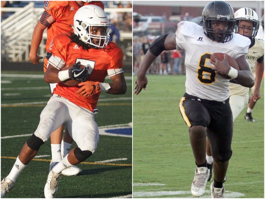 Beech's Ja'sean Parks (left) and Hendersonville's Joshua Ferguson (right)