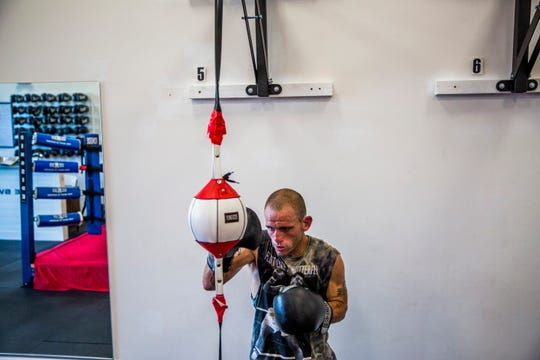 Tommy Bryant Jr., 29, trains at The Sweet Science boxing gym in East Naples on Tuesday, Sept. 4, 2018.