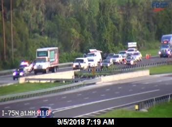 A crash with injuries is partially blocking the right southbound lane on Interstate 75 near Immokalee Road, according to the Florida Highway Patrol.