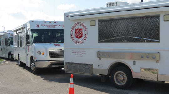 Salvation Army canteen trucks head out to serve Hurricane Irma victims in September 2017.