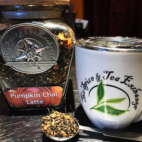 Not a coffee lover? Tea drinkers can enjoy the fall season with pumpkin chai latte from The Spice & Tea Exchange ® of Naples.