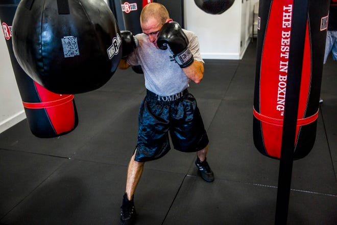 Naples' Tommy Bryant Jr., 29, trains at The Sweet Science Boxing in Naples on Sept. 4. On Saturday, Bryant won his second straight fight, winning in Fort Myers.