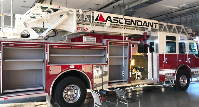 The new ladder truck the Newark Fire Department plans to obtain with a lease agreement later this year.