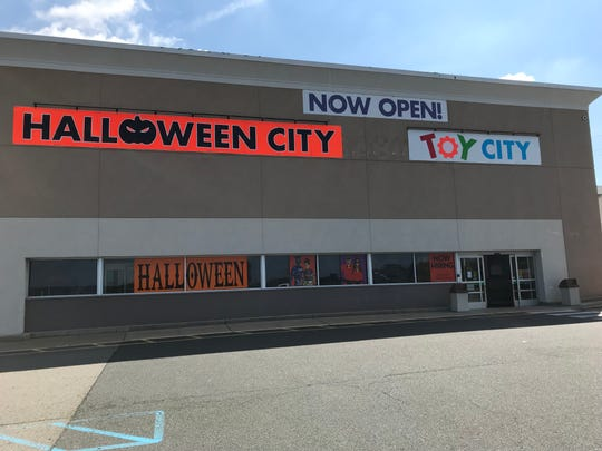 The outside of the Toy City store in Rockaway