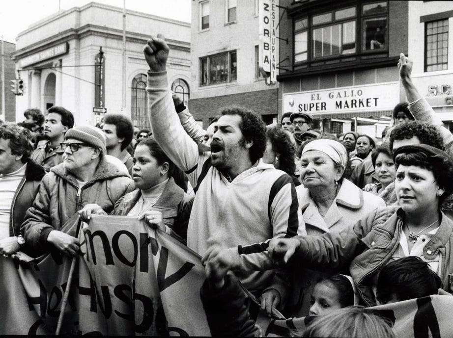 Residents protest rampant arson (1981.)