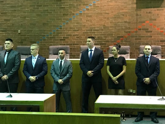 Meet the Clifton Police Department's newest class of officer candidates: Fabricio Martinez, Andrew Mulick, Angelo Milordo, Donald Cook, Alyssa Bobadilla and John Graziano. They begin training at the police academy on Sept. 13, 2018.