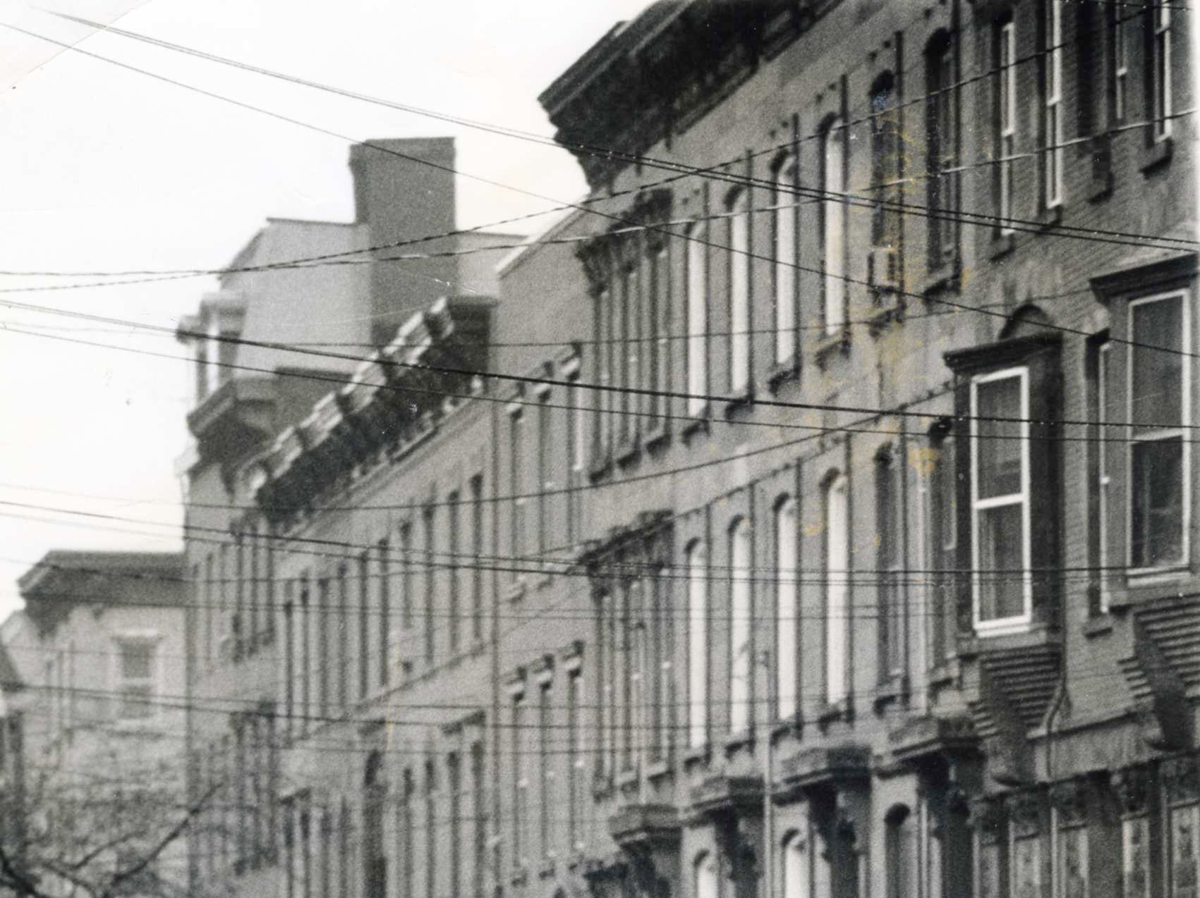 A row of Hoboken's turn-of-the century Brownstones as they were in 1973.
