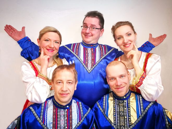 Members of Lyra, a Russian vocal troupe, will perform at Grace Church in Madison on Wednesday, September 12. The ensemble sings religious and secular folk music, as well as pieces by such classical composers as Tchaikovsky and Rachmaninoff. The Madison concert will include one piece performed with members of the church's adult and school choirs, plus members of Harmonium Choral Society.