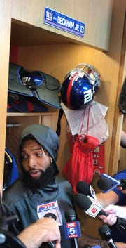 NY Giants wide receiver Odell Beckham Jr. promises he won't be baited into a heated encounter with Jaguars star cornerback Jalen Ramsey in Sunday's season opener at MetLife Stadium.