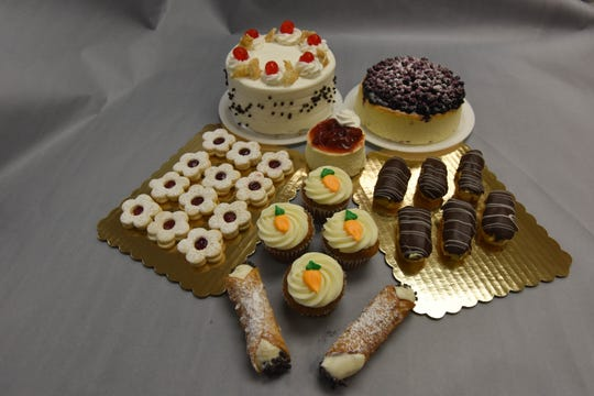Chef Nick Nikolopoulos' pastries at Gluten Free Gloriously in Stirling, NJ