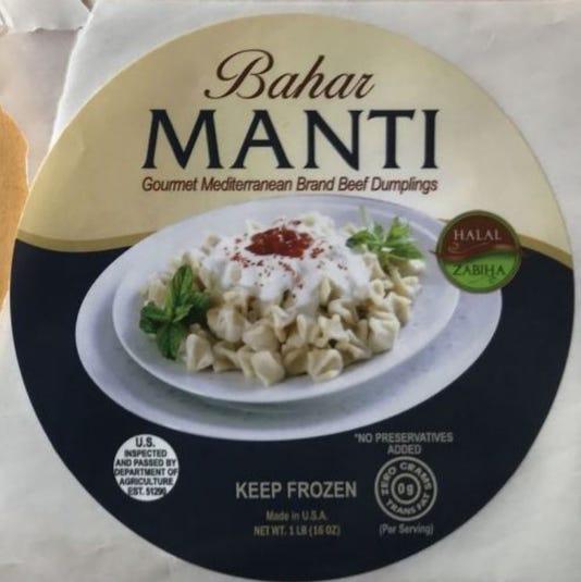 Bahar dumpling label