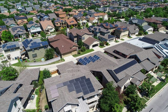Climate Ready Homes In Mueller Suburb Solar Panel Rooftops And Modern Austin Living