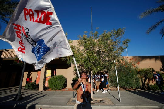Indio High School and Shadow Hills High School holds their first annual rally in anticipation of their football game this Friday.