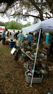 Scenes from the Copper Possum in Milton during the April edition of Flea Across Florida.