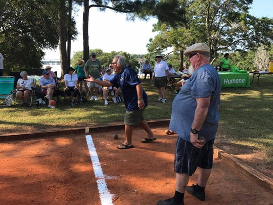 Local residents 50 and older participate in last year's Senior Games organized by the city of Pensacola Parks and Recreation Department.