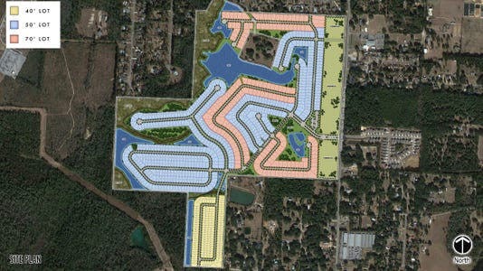 The Lakes of Woodbine residential plans