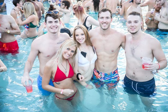This group enjoyed the pool during the Maya Dayclub Finale in Scottsdale on Monday, September 3, 2018.