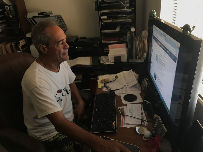 Tom Klabunde of Tempe is among the hundreds of Arizonans surveyed by The Republic this summer about the performance of their internet service using a standard internet-speed test.