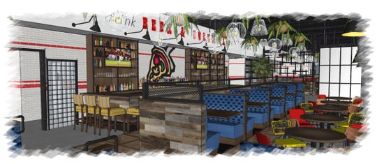 A rendering of the new location of Lou Malnati's, opening Sept. 11 in Scottsdale.