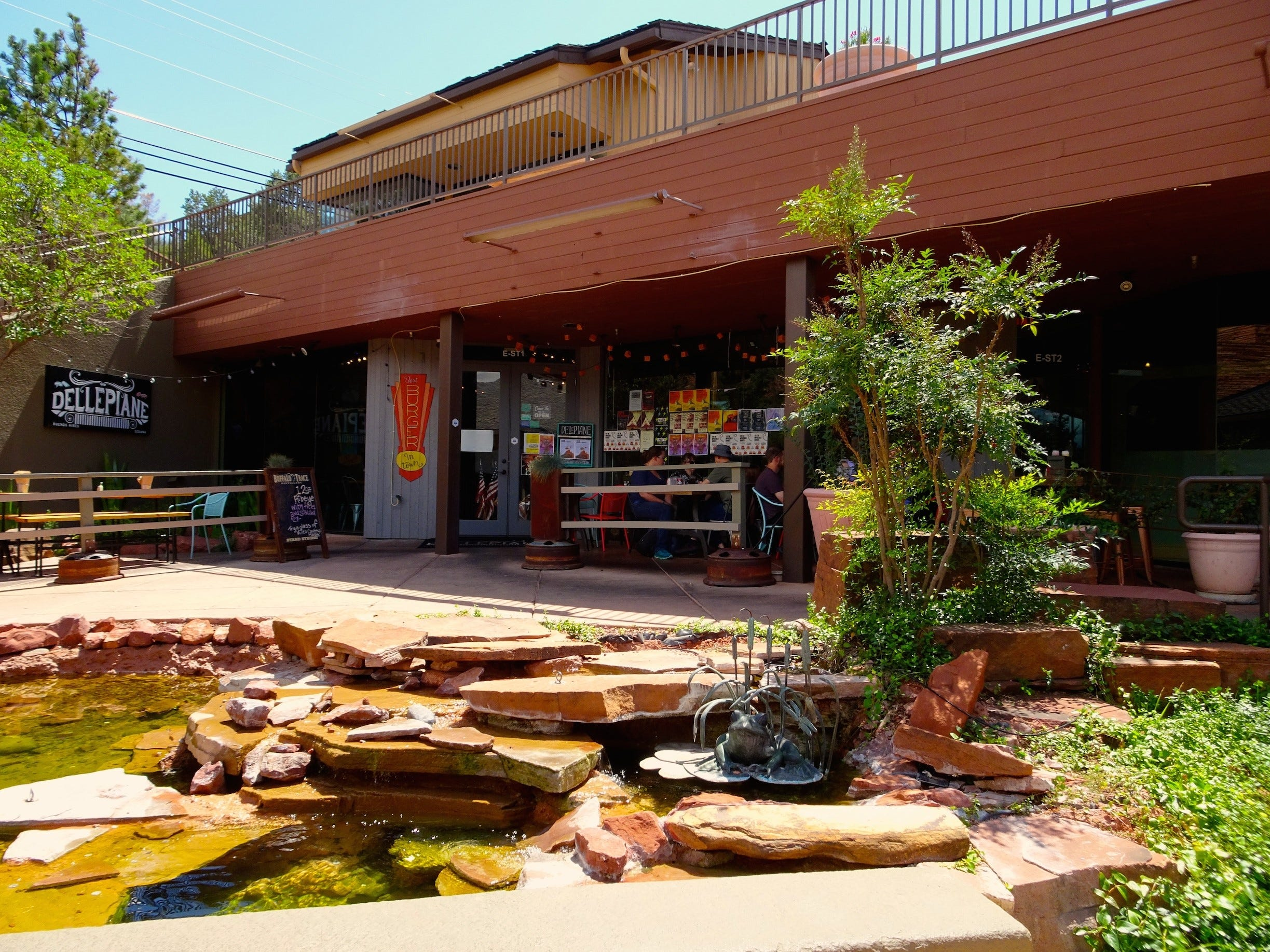Dellepiane's is tucked away among the shops and restaurants of the Hillside Sedona plaza.