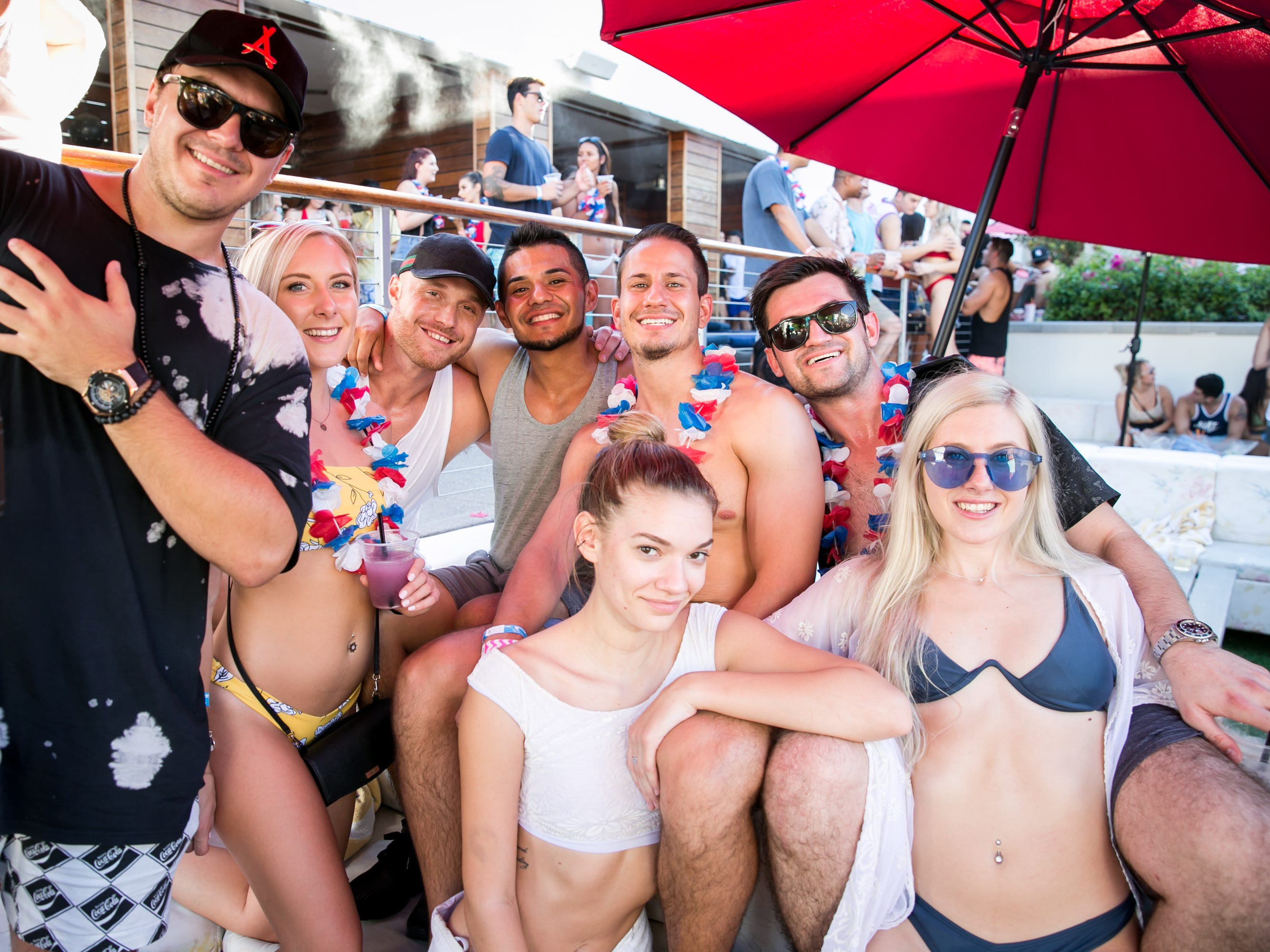 This group enjoyed some shenanigans during the Maya Dayclub Finale in Scottsdale on Monday, September 3, 2018.