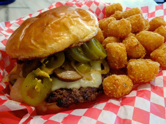 Marino's Mob Burgers and Ice Cream serves big ground-chuck burgers with a variety of side dishes on Prescott's Courthouse Plaza.