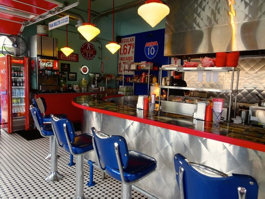 Inside Bing's Burger Station in Cottonwood is a classic diner setting.