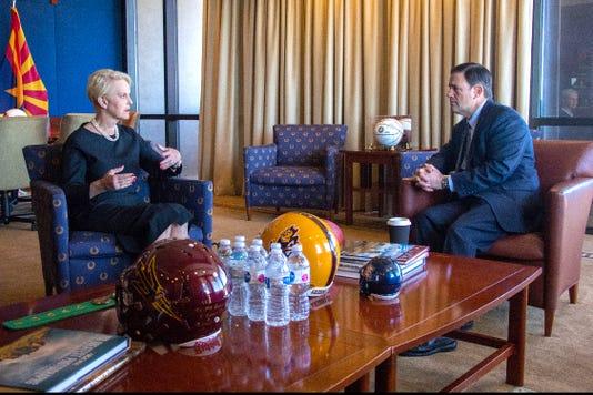 Cindy McCain returns to Arizona Capitol