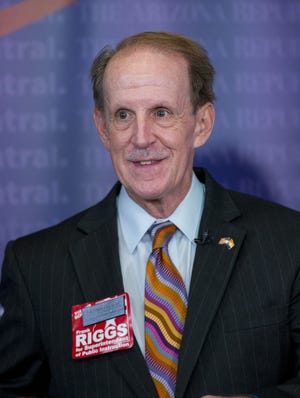 Republican Frank Riggs, aformer California U.S. congressman, hasclaimed victory in a competitive primary race for state superintendent of public instruction.