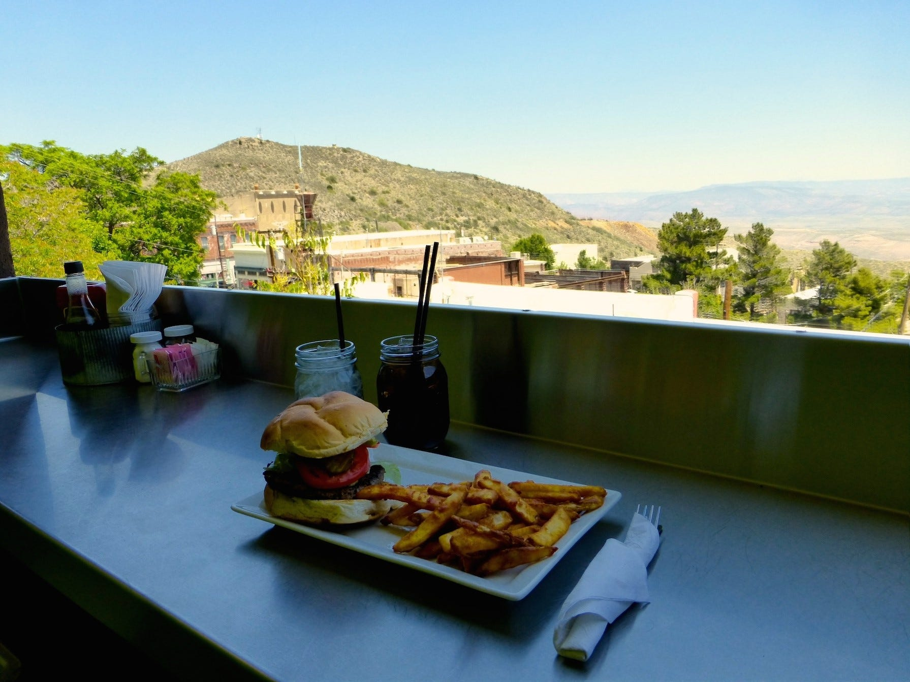 There are no bad seats at the Haunted Hamburger in Jerome. Spots on the deck or the View Bar are special favorites.
