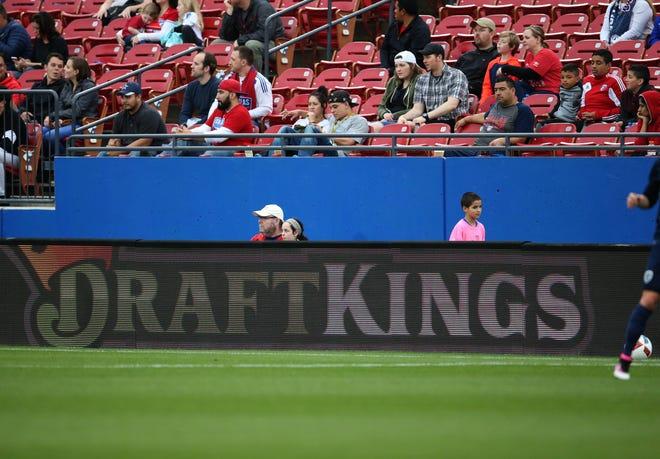 DraftKings banner ad at Toyota Stadium in Kansas City, Missouri