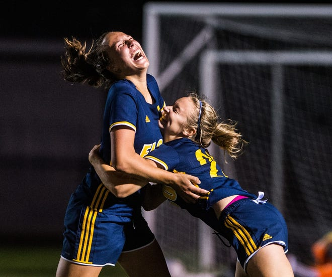 Ryelle Shuey, left, and Jordan Rosengrant are just two of the returning starters for a loaded Elco girls soccer team that hopes to contend again for a section title and postseason berth.