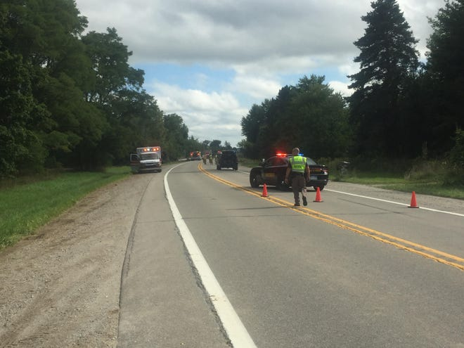 A 69-year-old Macomb Township man was killed in a crash while riding his bike on M-19 in Emmett Township Aug. 30.