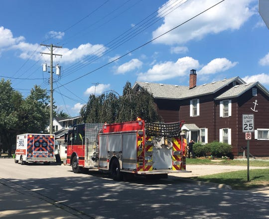 First responders were called to a home on Michigan Street just north of Rawlins Street along the St. Clair River Wednesday afternoon.