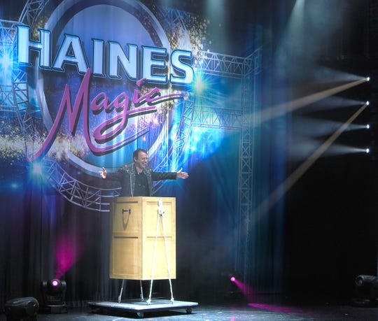 "David Haines ""self-levitates"" while aboard Norwegian Cruise Line ""Jewel."""