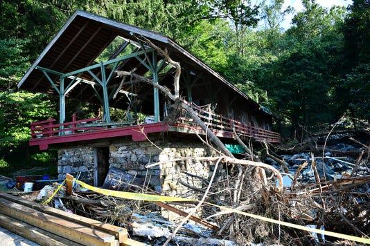 Gov Wolf Tours Accomac Rd Flood Damage