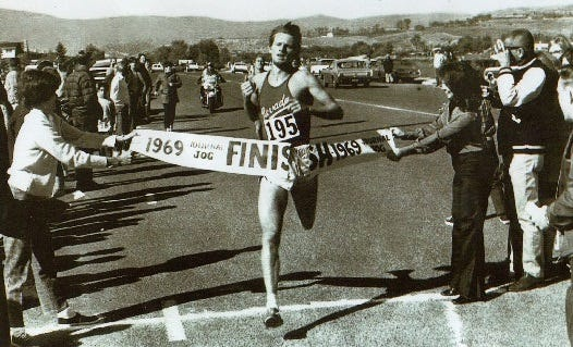 Pete Sinnott of Reno wins the very first Journal Jog in 1969. Sinnott, now 69, is running the race again for its 50th year in 2018.