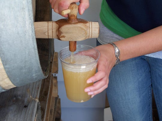 Federweisser,a partially fermented, frothy, young, wine made from the first fruits of the harvest, is the inspiration for a festival at Anthony Road Wine Company.