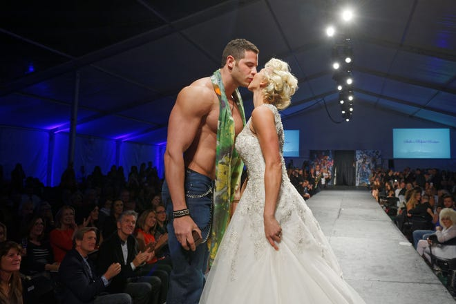 A runway proposal at Fashion Week of Rochester