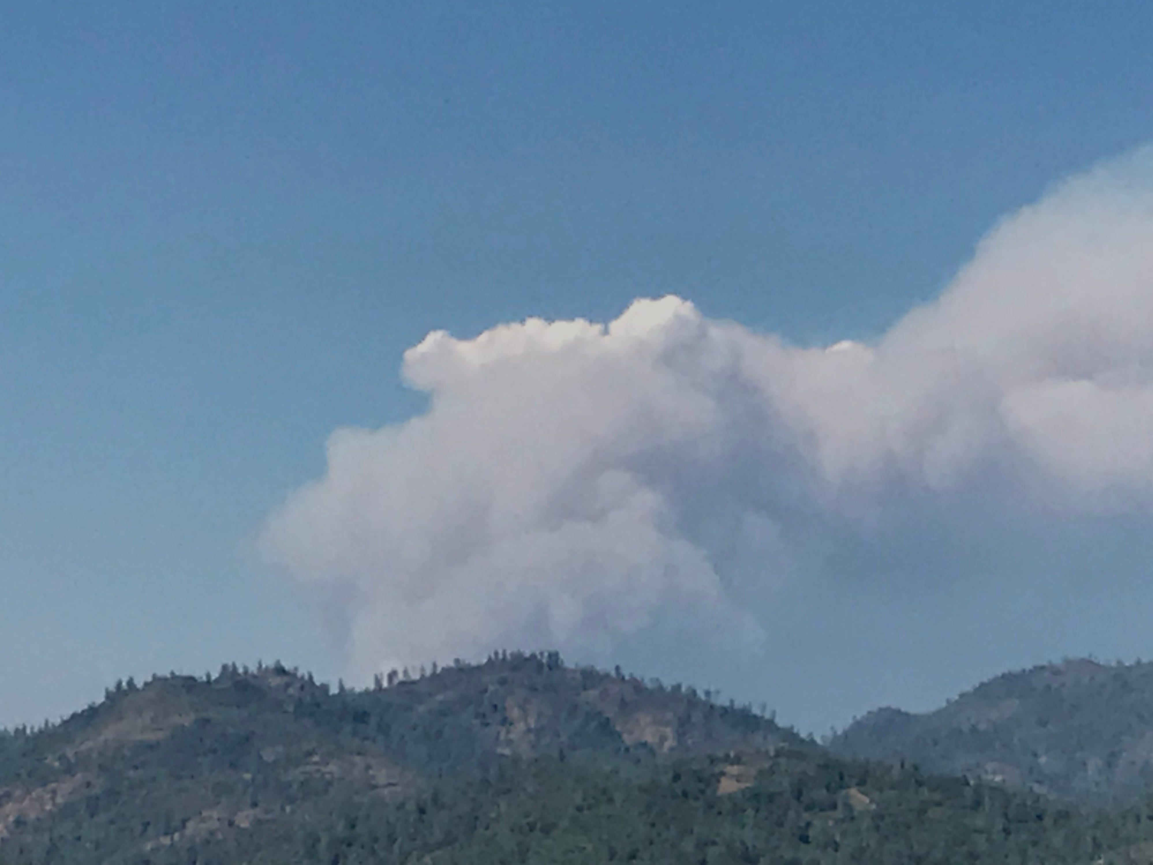 A fire that broke out Wednesday off Interstate 5 near Lakehead was easily visible from the Redding area.