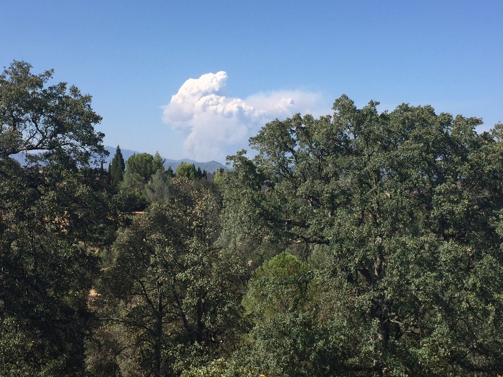 The Delta Fire as seen from west Redding Wednesday, September 5, 2018.