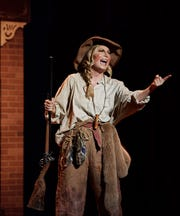 "Katie Harman, who was crowned Miss America in 2002, plays Annie Oakley in the Elsinore Theatre's production of ""Annie Get Your Gun,"" which runs through Sunday, Sept. 9, in Salem, Oregon."