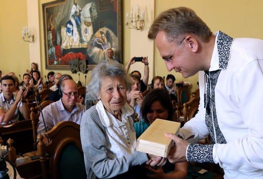 Yanina Hescheles Mayor Andriy Sadoviy
