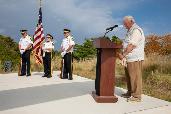A moment of silence during the third annual V-J celebration was hosted by the Fort Miles Historical Association on Sunday, Sept. 2.