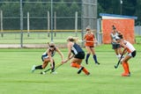 The Delmar field hockey team practiced hard in the summer heat Wednesday, Sept. 5, hoping for another state title this year.